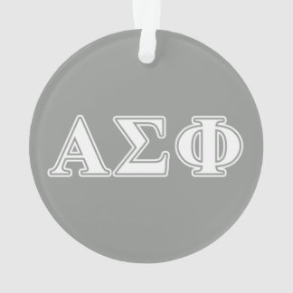 Alpha Sigma Phi White and Grey Letters