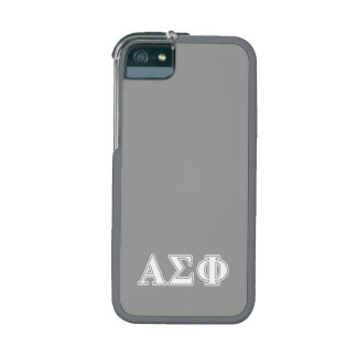 Alpha Sigma Phi White and Grey Letters iPhone 5/5S Case
