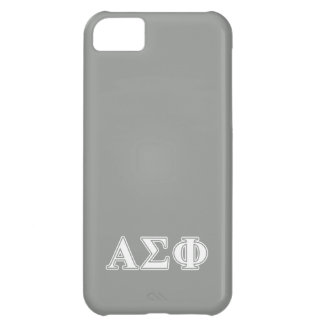 Alpha Sigma Phi White and Grey Letters Case For iPhone 5C