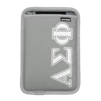 Alpha Sigma Phi White and Grey Letters iPad Mini Sleeve