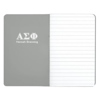 Alpha Sigma Phi White and Grey Letters Journals