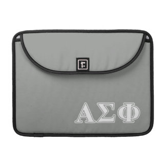 Alpha Sigma Phi White and Grey Letters Sleeve For MacBook Pro