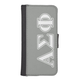 Alpha Sigma Phi White and Grey Letters Phone Wallets