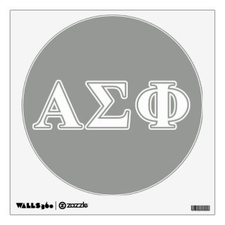 Alpha Sigma Phi White and Grey Letters Wall Decal