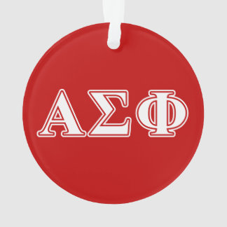 Alpha Sigma Phi White and Red Letters