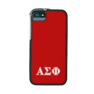 Alpha Sigma Phi White and Red Letters iPhone 5 Cover