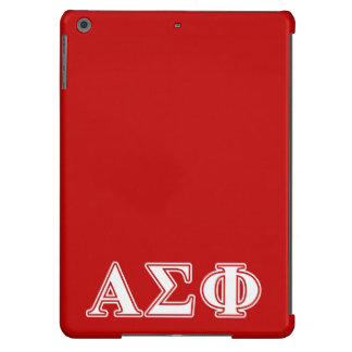 Alpha Sigma Phi White and Red Letters iPad Air Case
