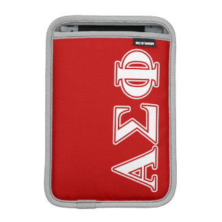 Alpha Sigma Phi White and Red Letters iPad Mini Sleeve
