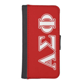 Alpha Sigma Phi White and Red Letters iPhone 5 Wallets
