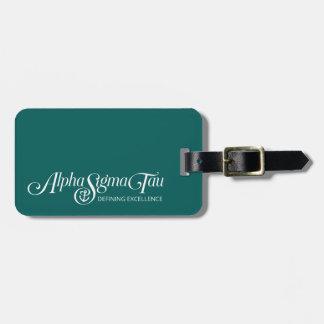 Alpha Sigma Tau Logo Bag Tag