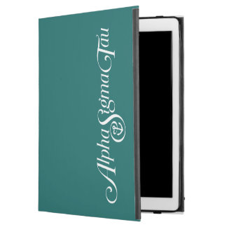 "Alpha Sigma Tau Logo No Tagline 2 iPad Pro 12.9"" Case"