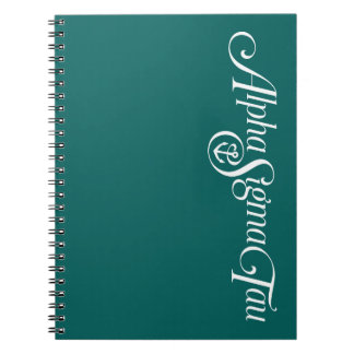 Alpha Sigma Tau Logo No Tagline 2 Notebook