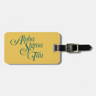 Alpha Sigma Tau Vertical Mark 2 Bag Tag