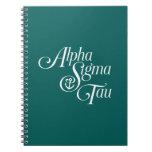 Alpha Sigma Tau Vertical Mark Notebook