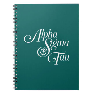 Alpha Sigma Tau Vertical Mark Notebook