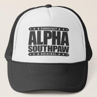 ALPHA SOUTHPAW - Unorthodox Lefty Warrior, Black Trucker Hat