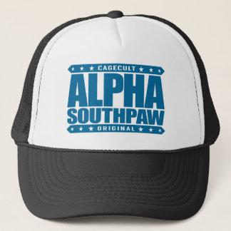 ALPHA SOUTHPAW - Unorthodox Lefty Warrior, Blue Trucker Hat