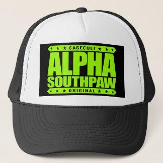 ALPHA SOUTHPAW - Unorthodox Lefty Warrior, Lime Trucker Hat