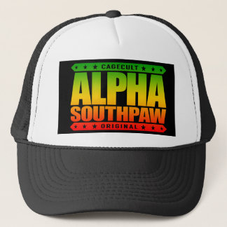 ALPHA SOUTHPAW - Unorthodox Lefty Warrior, Rasta Trucker Hat