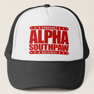ALPHA SOUTHPAW - Unorthodox Lefty Warrior, Red Trucker Hat