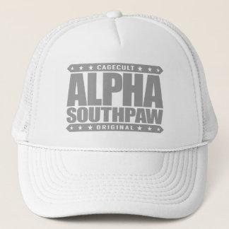 ALPHA SOUTHPAW - Unorthodox Lefty Warrior, Silver Trucker Hat