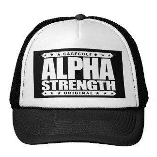 ALPHA STRENGTH - I Choke Out Anacondas, White Trucker Hat