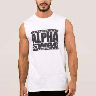 ALPHA SWAG - Positivity Destroys Haters, Black Sleeveless Shirt