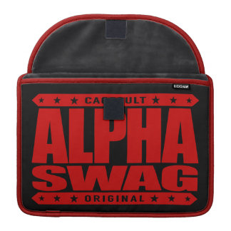 ALPHA SWAG - Positivity Destroys Haters, Red MacBook Pro Sleeves