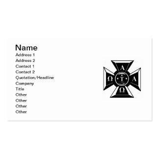 Alpha Tau Omega Badge Black & White Business Card
