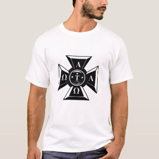 Alpha Tau Omega Badge Black & White T-Shirt