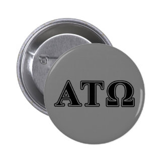 Alpha Tau Omega Black Letters 2 Inch Round Button