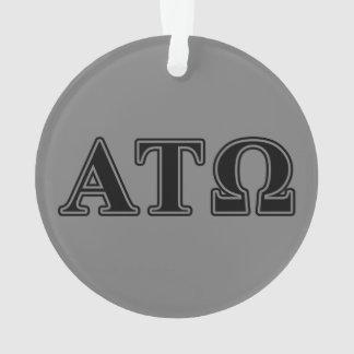 Alpha Tau Omega Black Letters