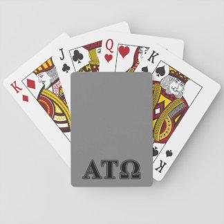 Alpha Tau Omega Black Letters Card Deck