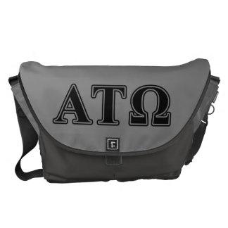 Alpha Tau Omega Black Letters Courier Bag