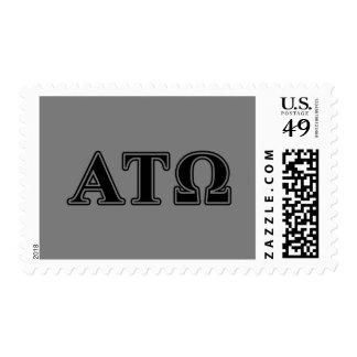 Alpha Tau Omega Black Letters Postage
