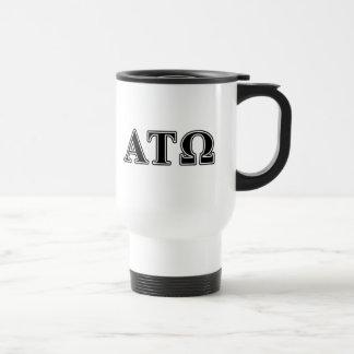 Alpha Tau Omega Black Letters Travel Mug
