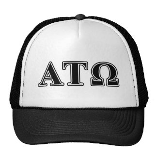 Alpha Tau Omega Black Letters Trucker Hat