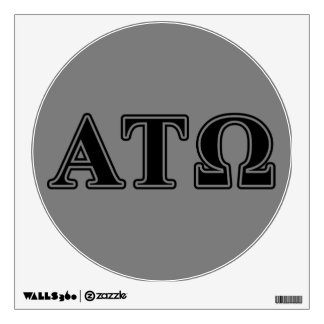 Alpha Tau Omega Black Letters Wall Decal