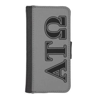 Alpha Tau Omega Black Letters Wallet Phone Case For iPhone SE/5/5s