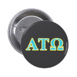 Alpha Tau Omega Blue and Yellow Letters 2 Inch Round Button
