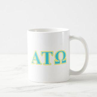 Alpha Tau Omega Blue and Yellow Letters Coffee Mug