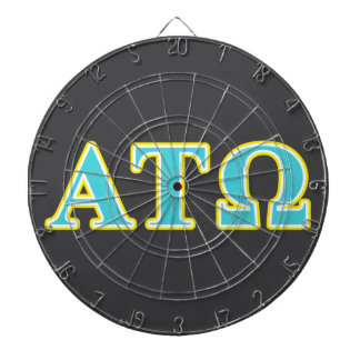 Alpha Tau Omega Blue and Yellow Letters Dart Boards