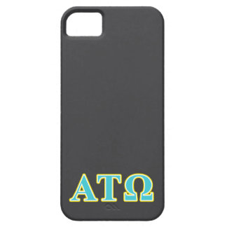 Alpha Tau Omega Blue and Yellow Letters iPhone SE/5/5s Case