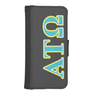 Alpha Tau Omega Blue and Yellow Letters iPhone SE/5/5s Wallet