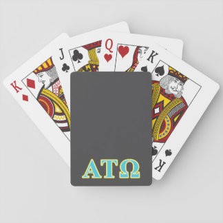 Alpha Tau Omega Blue and Yellow Letters Deck Of Cards