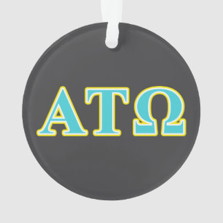 Alpha Tau Omega Blue and Yellow Letters Ornament