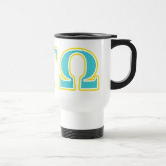 Alpha Tau Omega Blue and Yellow Letters Travel Mug