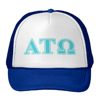 Alpha Tau Omega Blue Letters Trucker Hats