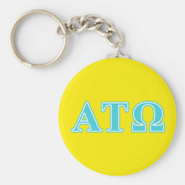 Alpha Tau Omega Blue Letters Keychain