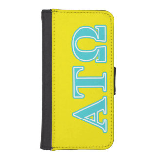 Alpha Tau Omega Blue Letters Phone Wallets